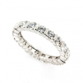 18k White Gold Diamond Full Eternity Ring 1.90ct